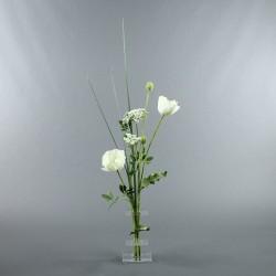 Flat S - Coquelicot blanc