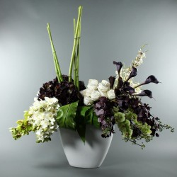 Empo XL, Orchids, Roses, Calla, Berry - Green, purple, white 160cm