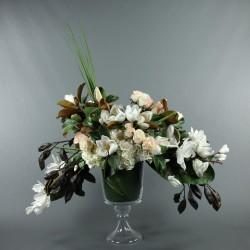 Gobelet M - Bouquet Magnolias, Hortensias, Roses - Blanc, Rose
