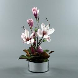 Round silver - Magnolia fushia (80246)