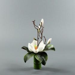 Bambou S - Magnolia ouvert blanc (79844)