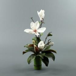 Bambou M - Magnolia ouvert et bouton blanc (79882)