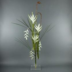 Flat XL - Heliconia white, Pendula white 172cm