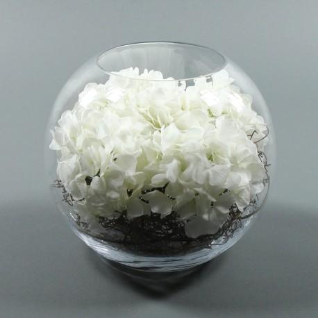 Boule XL - Hortensia blanc