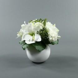 Boule M blanc - Bouquet Amaryllis blanc, Boule de neige, Allium