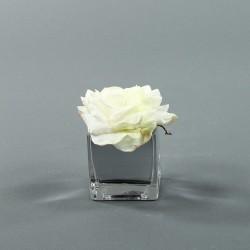 Cube S silver - Rose Duchesse Blanc