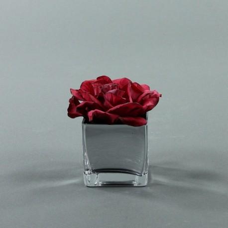 Cube S silver - Rose Duchesse Rouge Fushia