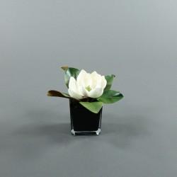 Cube M black - Magnolia blanc
