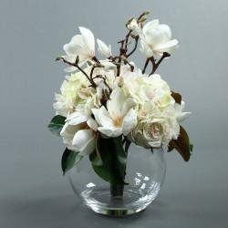 Boule L - Magnolia, Hortensia, Rose blanc