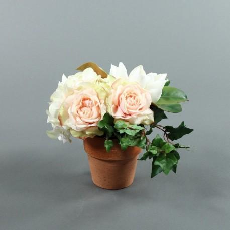 pot hortensia rose magnolia 28cm. Black Bedroom Furniture Sets. Home Design Ideas
