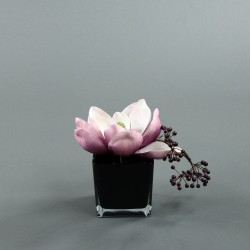 Cube L black - Magnolia rose