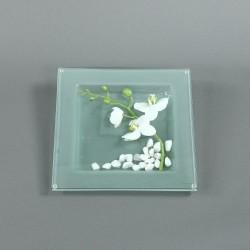 Dessous de plat - Fleuron d'Orchidée blanc