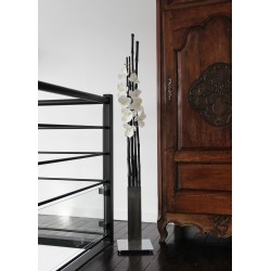 Chrome XL - Bambous noir - Orchidée blanc