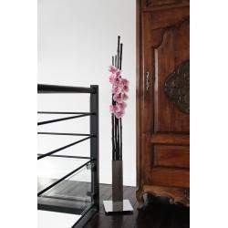 Chrome XL - Bambous noir - Orchidée rose