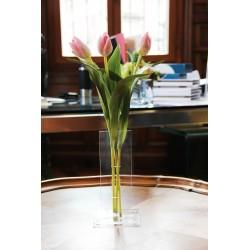 Compo fin S - Tulipes rose (x3)