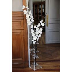 Flat XL - Bambous noir - Orchidée blanc (x3)