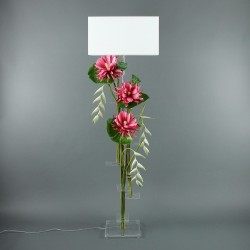 Flat XL - Lotus fushia, Pendula blanc, pod