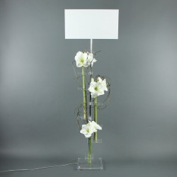 Flat XL - Amaryllis blanc, Branchage