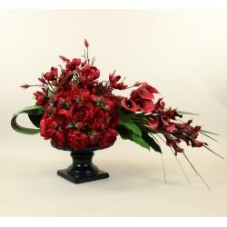 Medicis Noir M - Pivoine, Arum, Magnolia rouge