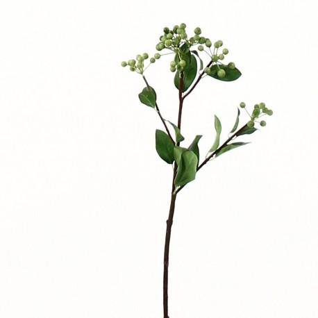 Branche de baies 48cm - Vert clair
