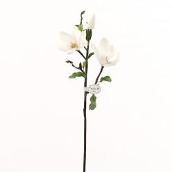Magnolia branche avec feuilles 71cm - Champagne