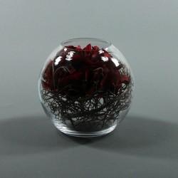 Boule M - Hortensia rouge