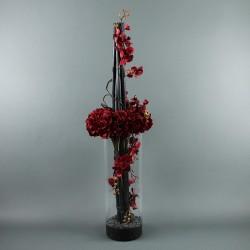 Cylindric L - Hortensia, Phalaenopsys rouge, Bambou