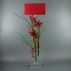 Flat XL - Heliconia rouge, Pendula rouge
