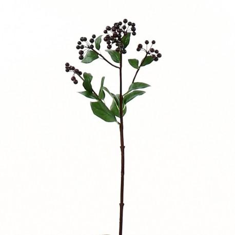 Branche de baies 48cm - Pourpre