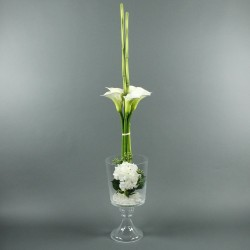 Gobelet L - Arum, Hortensia blanc, Bambou vert