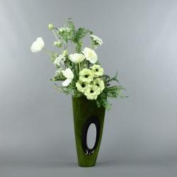 Bois laqué Maldives vert XL - Coquelicot blanc, Poppy vert
