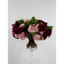 Gobelet S - Bouquet Pivoines, Roses, Skimmia - Rose
