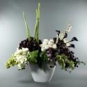 Empo XL, Orchids, Roses, Calla, Berry - Green, purple, white 160cm