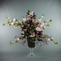 Gobelet M - Magnolia, Branches de Cerisier rose
