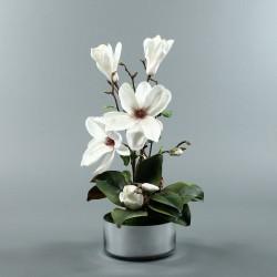 Round silver - Magnolia blanc (80239)