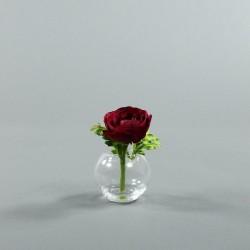 Boule S - Renoncule rouge fushia