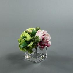 Cube M Clear - Pivoine, Renoncule, Hortensia, tons clairs