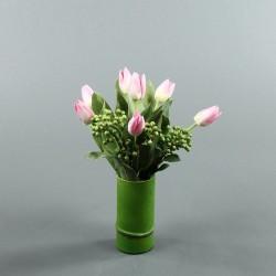 Bambou M - Tulipe rose