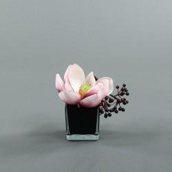Cube M black - Magnolia rose