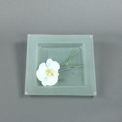 Dessous de plat - Fleuron d'Orchidée blanc, Bambou graphique