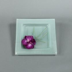 Dessous de plat - Fleuron d'Orchidée fushia, Bambou graphique