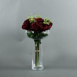 Coupe L Clear - Bouquet de roses rouges, Tige ensemencée