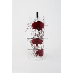 Cristal Curve - Splint - Orchidée rouge