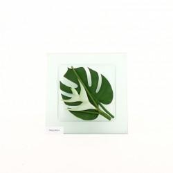 Dessous plat verre - Heliconia blanc